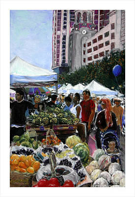 Saturday Morning Market Art Print by Barry Rothstein