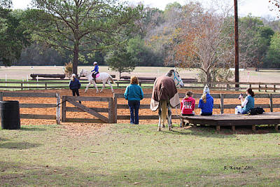 Photograph - Saturday Morning Riding Lessons by Roena King