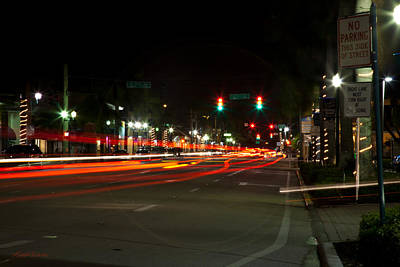 Photograph - Saturday Night Lights Atlantic Ave Delray Beach Florida by Michelle Wiarda