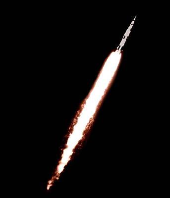 Saturn 5 Test Launch Art Print by Nasa