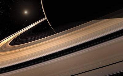 Exploration Of Space Photograph - Saturn Planet In Solar System, Close-up by Mark Garlick/spl