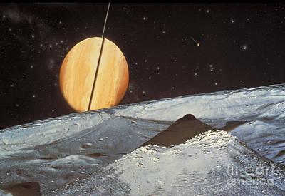 Saturns Satellite Mimas Art Print by Nasa