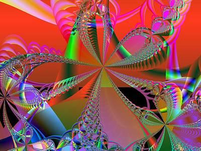 Digital Art - Saucy Bows by Ann Peck