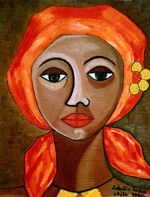 Mulher Painting - Saudades by Madalena Lobao-Tello