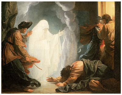Saul And The Witch Of Endor Art Print by Benjamin West