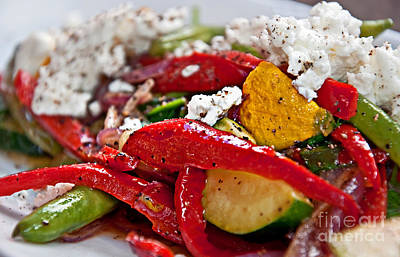 Photograph - Sauteed Vegetables With Feta Cheese Art Prints by Valerie Garner