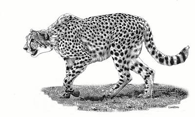 Cheetah Digital Art - Savanna Cat by Larry Linton