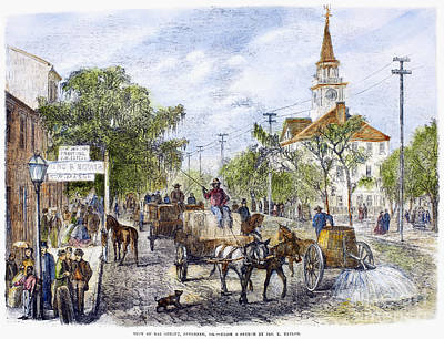 Savannah, Georgia, 1867 Art Print