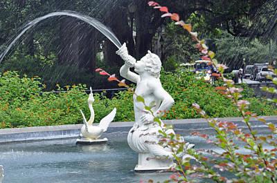 Photograph - Savannah Statue by Helen Haw