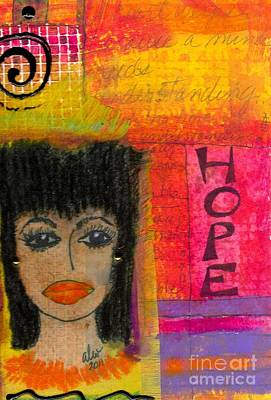 Weeping Mixed Media - Save My Weeping Heart by Angela L Walker
