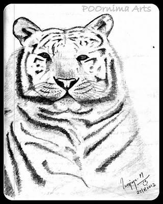 Save Tigers Art Print by Poornima M
