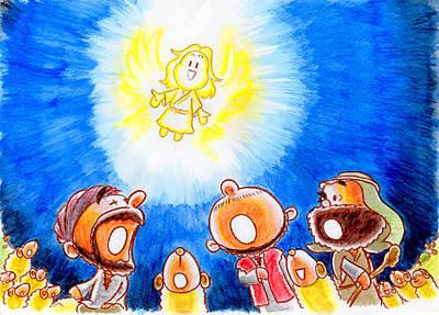 Saviour Has Come To Birth Art Print by Masahiro Tajima