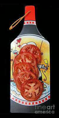 Photograph - Savory Red Tomato Slices by Andee Design