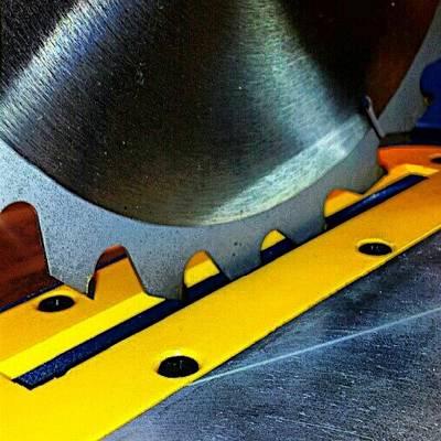 Steel Photograph - Saw Blade by Elisa Franzetta