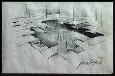 Drawing - Sawaliscape 1982 by Glenn Bautista