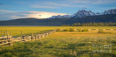 Photograph - Sawtooths And Fence by Idaho Scenic Images Linda Lantzy