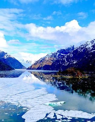 Alaskan Cruise Photograph - Sawyer Glacier 3 by Randall Weidner