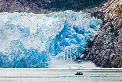 Up201209 Photograph - Sawyer Glacier Calving by Josh Whalen