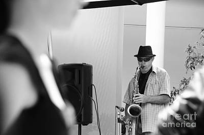 Sax Girl Photograph - Sax And Hat by Yurix Sardinelly