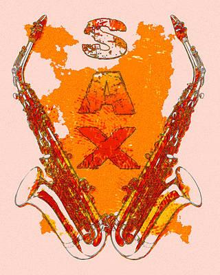 Sax Print by David G Paul