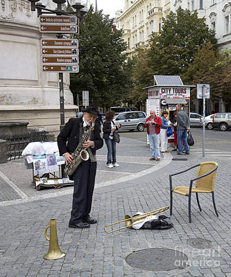 Saxophone Photograph - Sax Player In Budapest by Madeline Ellis