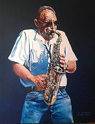 Painting - Saxophone by Tim Johnson