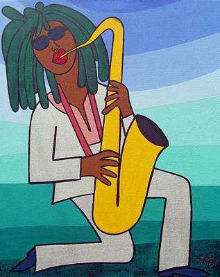 Saxxa Art Print by Jose Julio Perez