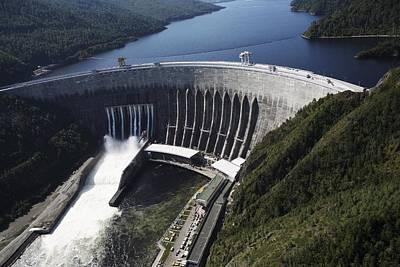 Sayano-shushenskaya Hydroelectric Dam Art Print by Ria Novosti