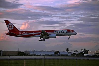 Photograph - Sba's Aircraft Landing. Miami. Fl. Usa by Juan Carlos Ferro Duque