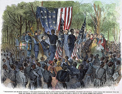Sc: Emancipation, 1863 Art Print by Granger