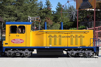 Train Photograph - Scale Locomotive - Traintown Sonoma California - 5d19237 by Wingsdomain Art and Photography