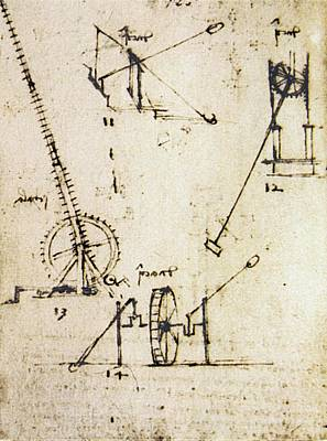 Scaling Ladder By Leonardo Da Vinci Art Print by