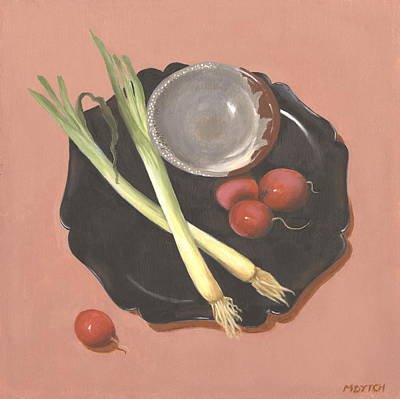 Sake Painting - Scallions And Radishes by Meredith Dytch
