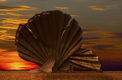 Scallop Sunrise At Aldeburgh Art Print by Darren Burroughs