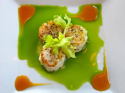 Scallops In Green Sauce Art Print