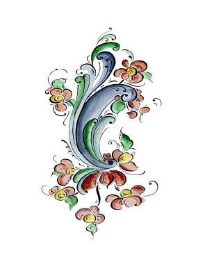 Scandinavian Flower I Art Print by Judy Dodds