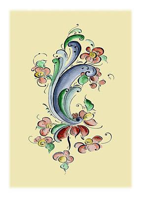Scandinavian Flower II Art Print by Judy Dodds