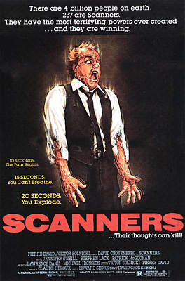 Scanners, Michael Ironside, 1981 Art Print