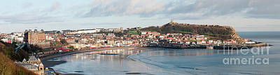 Colourfull Photograph - Scarborough On A Winter Day by David  Hollingworth
