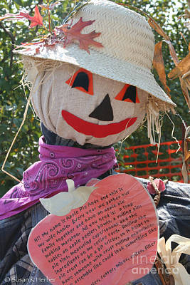 Photograph - Scarecrow Andy by Susan Herber