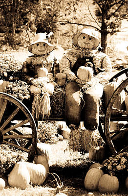 Photograph - Scarecrow Couple by Emanuel Tanjala