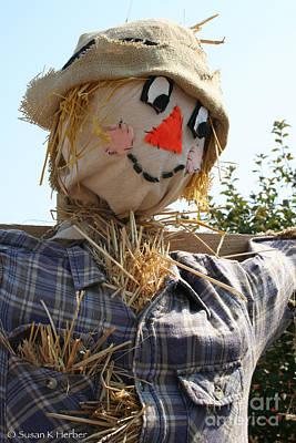 Photograph - Scarecrow Farmer by Susan Herber