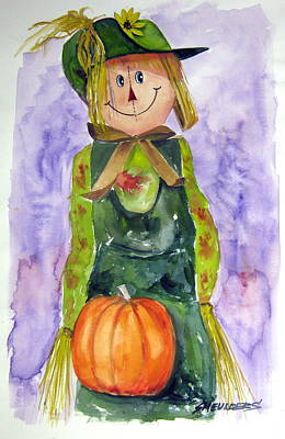 John Smeulders Painting - Scarecrow by John Smeulders