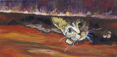 Painting - Scaredy Cat by Sandy Tracey