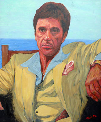Painting - Scarface - Tony Montana by Tom Roderick