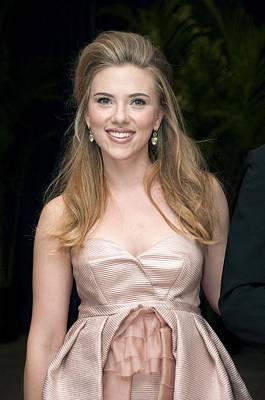 Scarlett Johansson Wearing A Miu Miu Art Print
