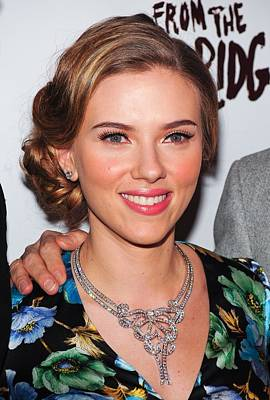 Statement Necklace Photograph - Scarlett Johansson Wearing Van Cleef & by Everett