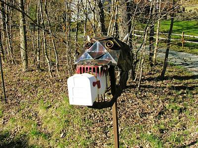 Art Print featuring the photograph Scary Mailbox 3 by Sherman Perry