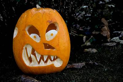 Scary Pumpkin Art Print
