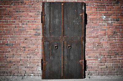 Scary Steel Door Print by Brandon Bourdages